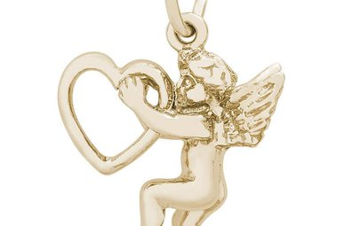 14ky Love Angel Charm