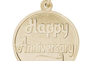 14ky Happy Anniversary Disc Charm