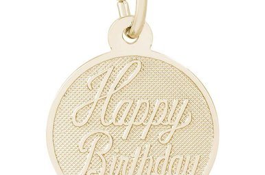 14ky Happy Birthday Disc Charm