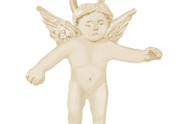 14ky Cherub Angel Charm
