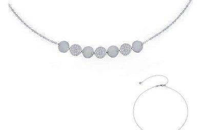 Lafonn 0.82cttw 58 Stones 7 Symbols of Joy Adjustable Necklace Choker