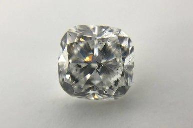 2.51ct D/I1 Cushion Cut Diamond