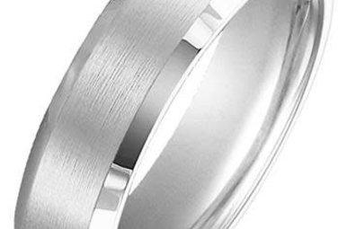 Tungsten 6mm Gents Wedding Band, Size 10