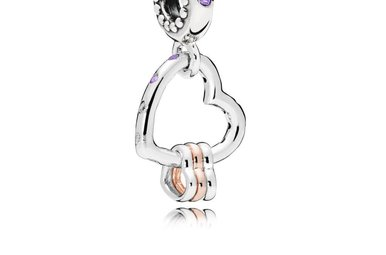 PANDORA Rose Charm, Heart Highlights, Multi-Colored Crystals & CZ