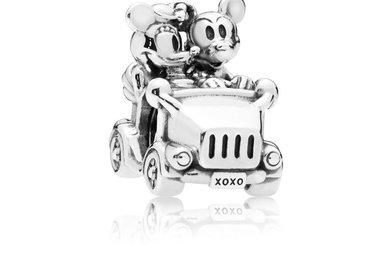 PANDORA Charm Disney, Mickey & Minnie Vintage Car