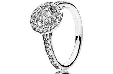 PANDORA Ring, Vintage Allure, Clear CZ - Size 58