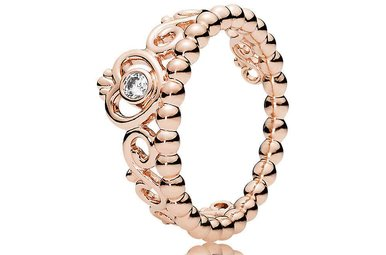 PANDORA Rose Ring, My Princess Tiara, Clear CZ - Size 58
