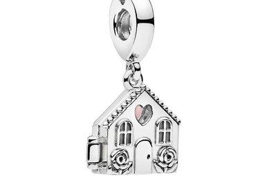 PANDORA Charm, Perfect Home, Pink Enamel