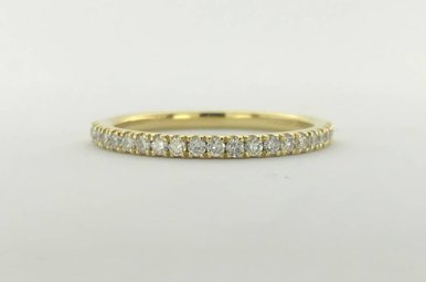 14k Yellow Gold .24ctw Diamond French-set Stackable Wedding Band Ring (Size 6.5)