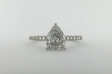 18k White Gold 1.36ctw Diamond (1.01ct E/SI3 CTR) Invisible Gallery Engagement Ring (Size 6)