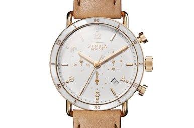Shinola Canfield Chrono Watch 40mm Leather Strap Watch