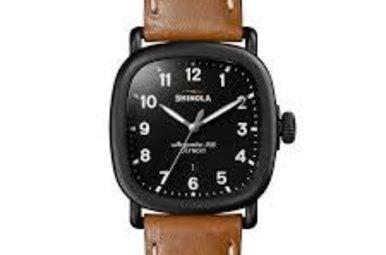 Shinola Guardian Watch, 41.5mm x 41.5mm ‑ Black/Brown