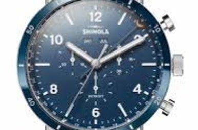 Shinola Men's 45mm Canfield Sport Bracelet Watch, Silver, Men's