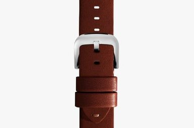 Shinola Watch Strap Brown Leather 24/22