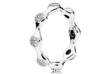 PANDORA Ring, Modern LovePods, Clear CZ - Size 54
