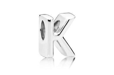 PANDORA Charm, Hearts Letter K