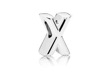 PANDORA Charm, Hearts Letter X