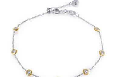 Lafonn Sterling 1.19 cttw Stone Station Bracelet 7 Symbols of Joy