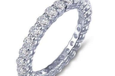 Lafonn Sterling Silver 1.35cttw Stone Eternity Ring (Size 5)