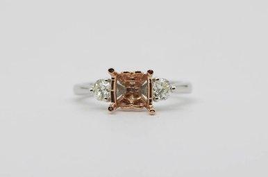 14kw/r 1/2ctw Round Brilliant Diamond Semi Mount Engagement Ring