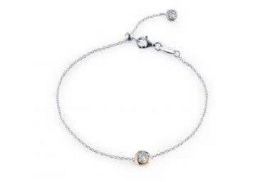 Lafonn Sterling Silver .49cttw 25 Stones Two Toned Adjustable Bracelet