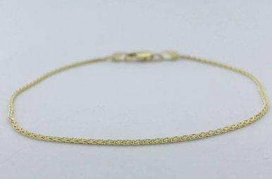 14k Yellow Gold Wheat Chain Bracelet (7 inch)