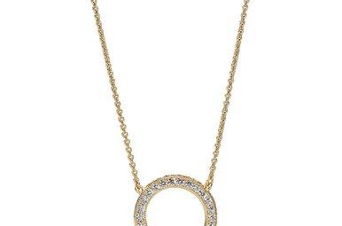 PANDORA Shine Necklace, Hearts of PANDORA, Clear CZ