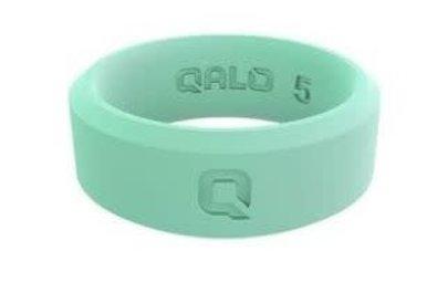 QALO Silicone Standard Women's Modern Aqua Foxfire Ring (Size 5)