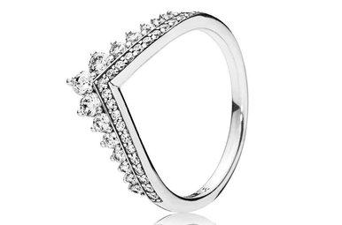 PANDORA Ring, Princess Wish, Clear CZ - Size 54