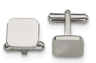 Cuff Links Stainless Steel Polished