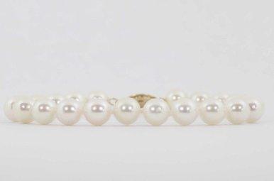 "14ky 8"" 7-7.5mm Akoya Pearl Strand Bracelet"