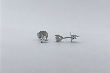 14k White Gold 1/3ctw Diamond Stud Earrings