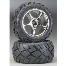 Traxxas 2.2 Anconda Tires W/Tracer Black Chrome Wheels Bandit Rear (2)