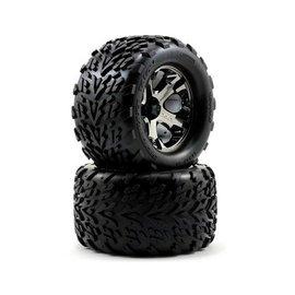 Traxxas 2.8 Talon Tire on All-Star Black Chrome Front (2)