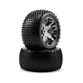 Traxxas 2.8 Alias Tires on All Star black chrome wheels (2)