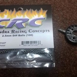CRC CLN1227 2.5mm Hard Steel Diff Balls (100)