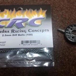 CRC CLN1227 2.5mm Hard Steel Diff Balls (100)