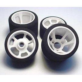 CRC CLN2195 1/12 Rear Green Tire Mounted Flex Wheel (2)