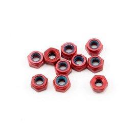 CRC CLN1412 Red Anodized Aluminum Locknuts , 3/16 Hex, 4-40 Thread (10)