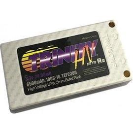 Trinity 6500mAh 1S 100C 3.7V High Voltage White Carbon
