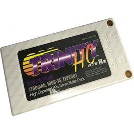 Trinity 7700mAh 1S 100C 3.7V High Voltage White Carbon