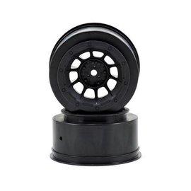 J Concepts JCO3350B  Black Hazard Slash 2WD Front Wheel (2)