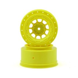 J Concepts HAZARD - SLASH REAR, SLASH 4X4 F&R WHEEL - (YELLOW) - 2PC