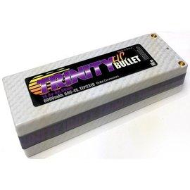 Trinity 6000mAh 4S 14.8V Lipo White Carbon 5mm Bullets
