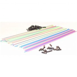 Racers Edge Assorted Colored Antenna Tubes W/Caps (1)