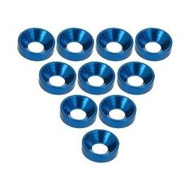 3-Racing 3RAC-WC3/BU Blue Aluminum M3 CSK Washers (10)