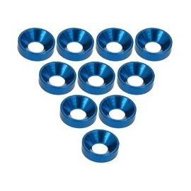 3-Racing Blue Aluminum M3 CSK Washers (10)