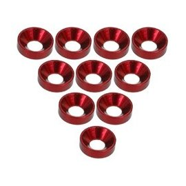 3-Racing 3RAC-WC3/RE Red Aluminum M3 CSK Washers (10)