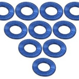 3-Racing Blue Aluminum M3 Flat Washer 0.5mm (10)