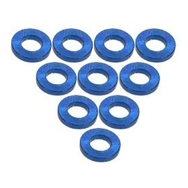 3-Racing Blue Aluminum M3 Flat Washer 1.0mm (10)